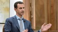 Assad will jeden Winkel Syriens zurückerobern