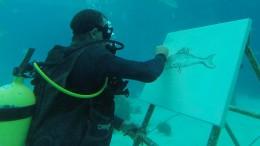 Unter Wasser Bilder malen