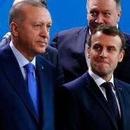 Recep Tayyip Erdogan und Emmanuel Macron im Januar in Berlin.