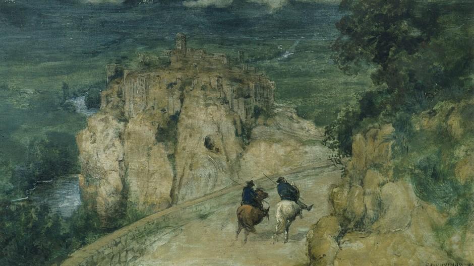 """Hans Thoma, """"Erinnerung an Orte"""", 1874, Schenkung Jan und Friedrike Baechle"""