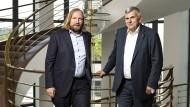 Auf Du und Du in Berlin: Toni Hofreiter (links), Fraktionschef der Grünen und seit vielen Jahren Verdi-Mitglied, mit Jörg Hofmann, Chef der IG Metall und VW-Aufsichtsrat