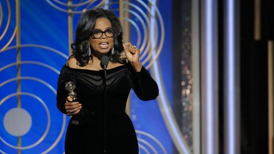 Oprah Winfrey hält kämpferische Rede