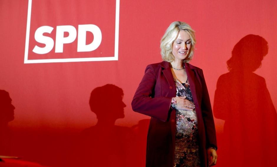Die schwangere Familienministerin Manuela Schwesig
