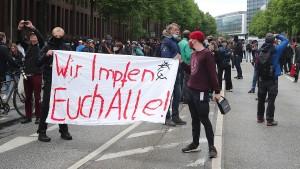 Kleinere Kundgebungen in ganz Deutschland
