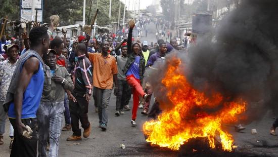 Unruhen in Kenia nach Wiederwahl Kenyattas