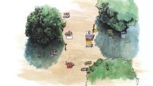 Flanieren bei Dürre und Flut