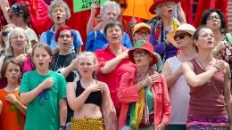 Flashmob in Sydney für das Klima
