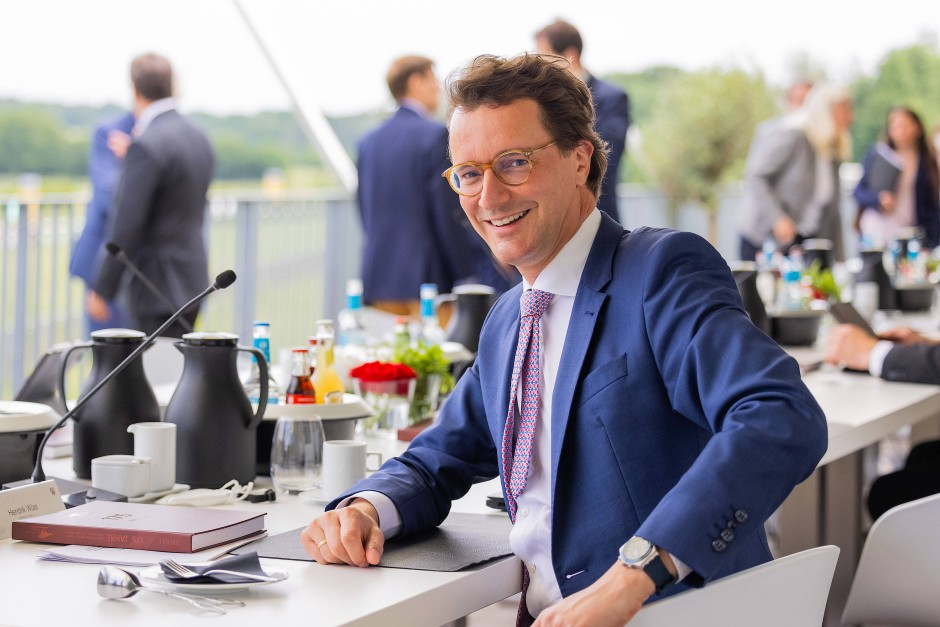 NRW-Verkehrsminister Hendrik Wüst im Juni in Düsseldorf