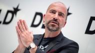 Uber-Chef Dara Khosrowshahi spricht auf der DLD Messe in München.