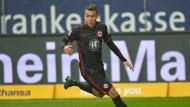 Auf dem Sprung: Luca Waldschmidt ist von seinen persönlichen Perspektiven bei der Eintracht nicht überzeugt.