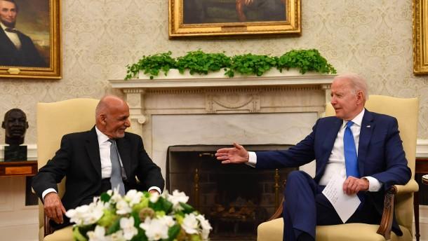 Biden lobte Afghanistans Militär