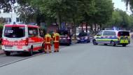 Die Polizei sperrte den Tatort vor einer Kindertagesstätte großräumig ab.