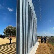 Ein Teil der Barriere an der griechisch-türkischen Grenze.
