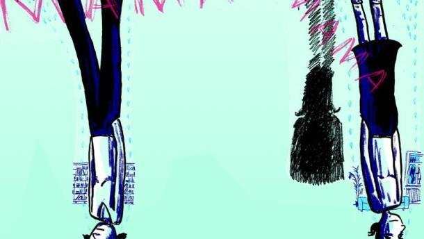 Illustration / Jugend schreibt / 2012-02-22 / Bildausschnitt 1 (gesamt kopfüber)