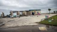 Zerstörte Autowaschanlage in Port Aransas, Texas