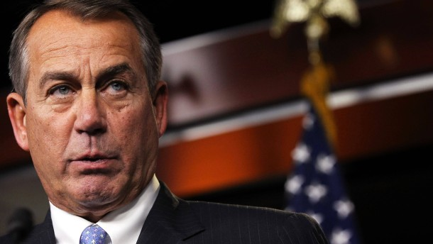 John Boehner Holds Press Briefing At US Capitol