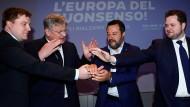 Nationalistische Internationale: Kotro, Meuthen, Salvini und Vistisen am Montag in Mailand