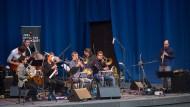 Klangräume erkundet: Der Klarinettist Oliver Leicht (rechts) und sein Ensemble begeisterten im Palmengarten.
