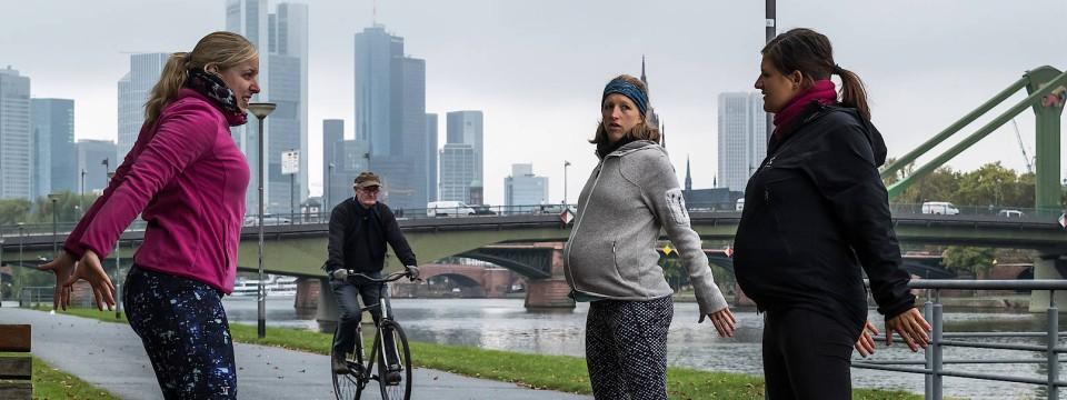 Schwangere frauen treffen