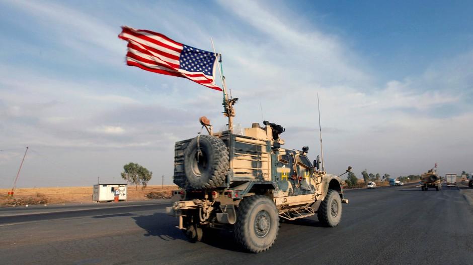 Amerikanisches Militärfahrzeug im Nordirak im Oktober 2019.