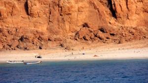 Somalischer Strand in Sicht