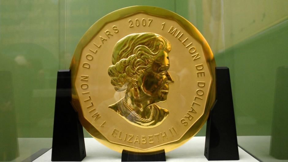 Diebesgut: Die 100 Kilogramm schwere Goldmünze bleibt verschwunden.