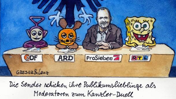 Neunzig Minuten für die Merkel-Steinbrück-Show