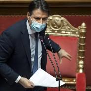 Italiens Ministerpräsident Giuseppe Conte am Dienstag im Senat.
