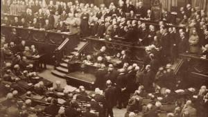 Reaktionen auf Reichskanzler Hertlings Rede zur Außenpolitik