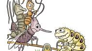 Einsatz von Schlupfwespe, Ohrwürmern und Ameisen gegen die Raupe der Gespinstmotte als natürlicher Feind und Ersatz für chemische Insektizide.