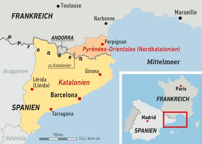 Spanien Katalonien Karte.Barcelona Bekommt Unterstützung Aus Frankreich