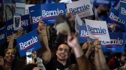Sanders nach ersten Auszählungen in Nevada klar vorn