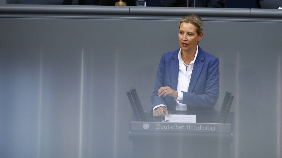 Weidel wegen Bundestagsrede in der Kritik