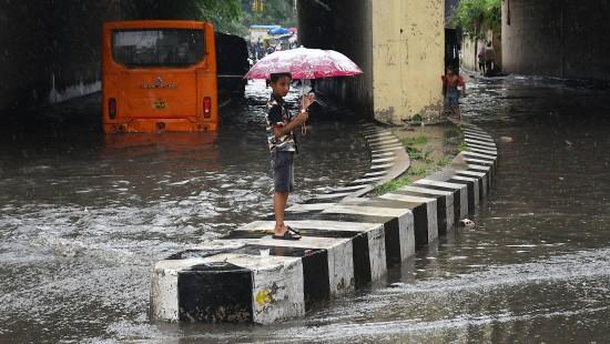 Monsun-Regenfälle in Neu-Delhi halten an