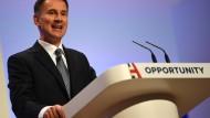 Jeremy Hunt beim Parteitag der Konservativen