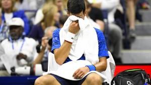 Schmerzhaftes Ende für Djokovic