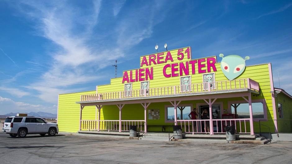 """Der Treffpunkt des Geschehens: Das """"Area 51 Alien Center"""" könnte im September den Start der Aktion markieren."""