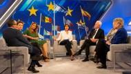 Sprachen über die Lage der EU vor der Wahl: Sandra Maischberger und ihre Gäste