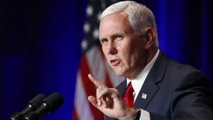 """Vizepräsident Pence: """"Erbärmlich und beleidigend"""""""