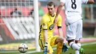 Am kurzen Eck überlistet: Torwart Lukas Hradecky erwischt den schlechtesten Tag, seitdem er bei der Eintracht ist.