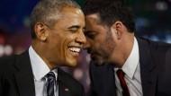 Barack Obama mit Komiker Jimmy Kimmel.