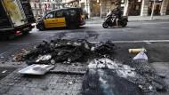 Die Proteste haben in Barcelona Spuren hinterlassen.