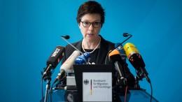 Staatsanwaltschaft ermittelt gegen Bamf-Chefin Cordt