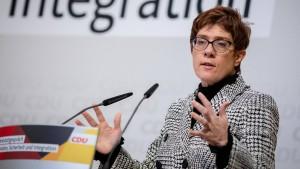Kramp-Karrenbauer erteilt SPD-Plänen eine Absage