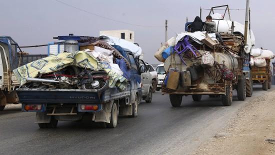Massenflucht vor Kämpfen in Syrien
