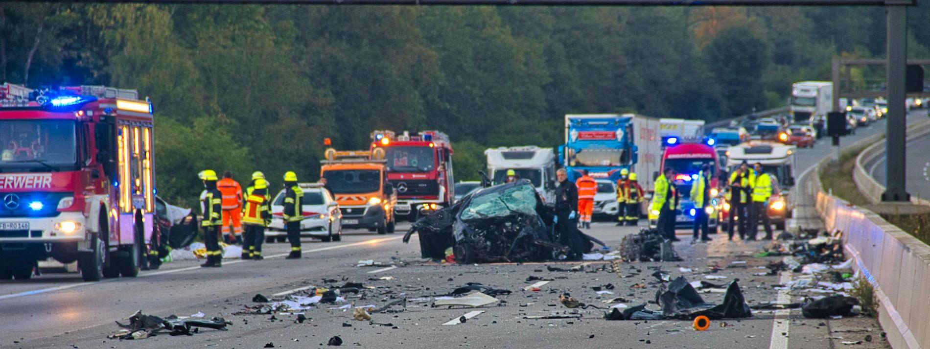 Falschfahrer verursachte Unfall auf A5