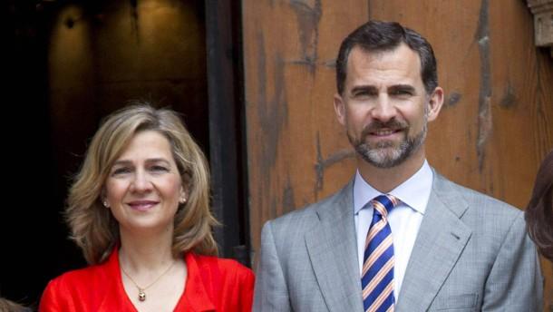 König Felipe erkennt seiner Schwester Fürstentitel ab