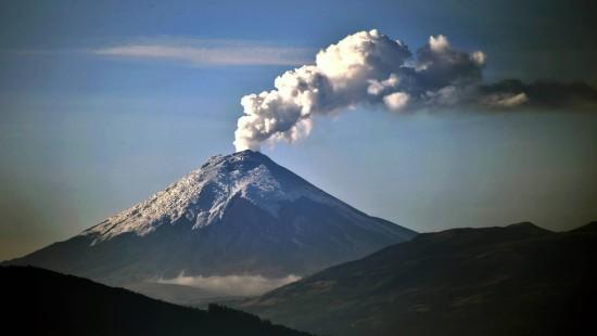 Furcht vor Vulkan Cotopaxi