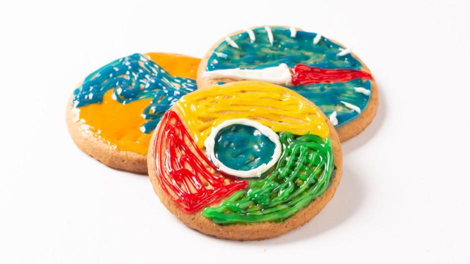 Kekse mit den Logos der großen Browsermarken Firefox, Google Chrome und Safari