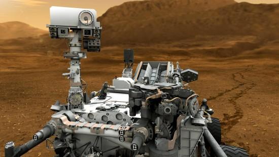 """Rover """"Curiosity"""""""" entnimmt dem Nachbarplaneten Gestein"""